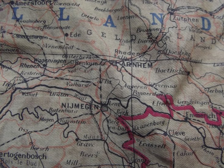 Map Of France Holland And Germany.Ww2 Silk Escape Map Series 43 Holland Belgium France Germany