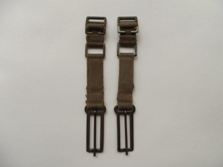 WW2 R A F KHAKI WEBBING EXTENSIONS DATED 1941 - £18 00 : DBG